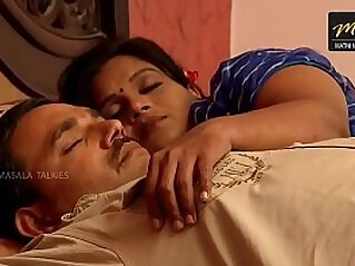Indian wife sharing bed with her Husband friend when his husband deeply sleeping