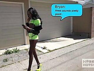 Gorgeous ebony slut Chanel Skye gets her ass pounded rough